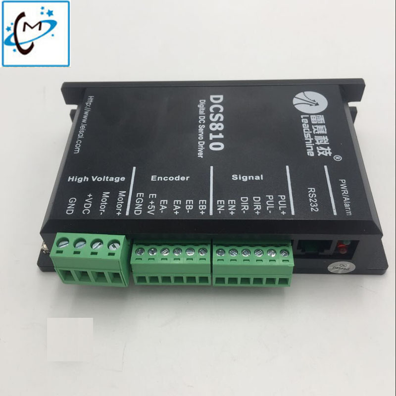 best quality!!Leadshine DCS810 servo driver for solvent printer Allwin Human Gongzheng JHF Vista Myjet printer driver myjet printer media sensor