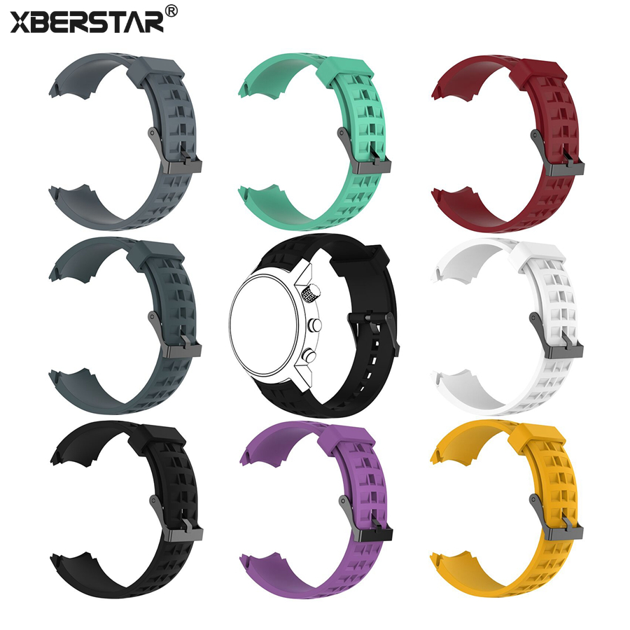 XBERSTAR Watchband Strap for Suunto Elementum Terra Series Wristwatch Replacement Wrist Band Silicone with Tools and Pins suunto elementum terra n steel