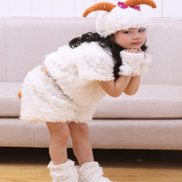 2018 Kids Girls Cartoon Animal Sheep Cosplay Costume For Children Party Stage Performance Costumes Dress Decor Purim  sc 1 st  Aliexpress & Online Shop 2018 Kids Girls Cartoon Animal Sheep Cosplay Costume For ...