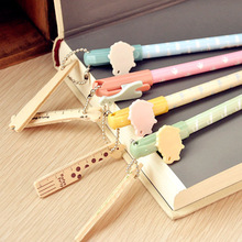 24 Pcs/lot 0.5mm Japanese Kawaii Cute Gel Pen Korea School Supplies Stationery With Ruler
