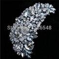 """4.75 """" огромный кристалл брошь горный хрусталь стразы маркиза кристалл очень большой свадебный брошь ювелирных изделий"""