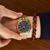 CHENXI Brand Calendar Luxury Waterproof Luminous Men S Quartz Business Watches Stainless Steel Watchband Men S