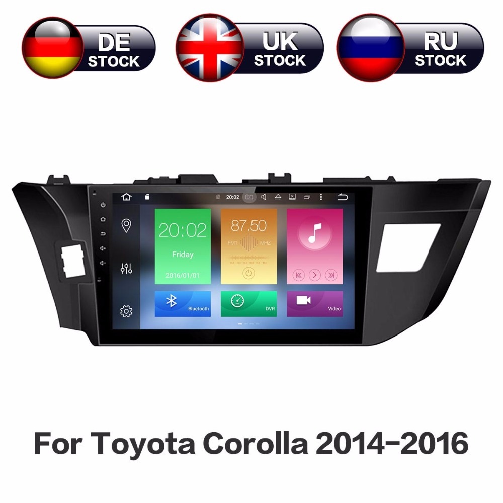 Android 8.0 4GB+32GB Car GPS Navigation No DVD Player Stereo Headunit Auto Radio Video Audio For Toyota Corolla 2014 2015 2016 цена