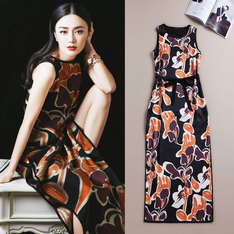 2015 spring summer new high-end fashion brand with the loose board temperament dress factory direct
