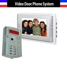 7 Inch Monitor Video Door Phone Intercom System ID Password Unlocking Video Doorphone Doorbell kit 1-Camera 1-Screen