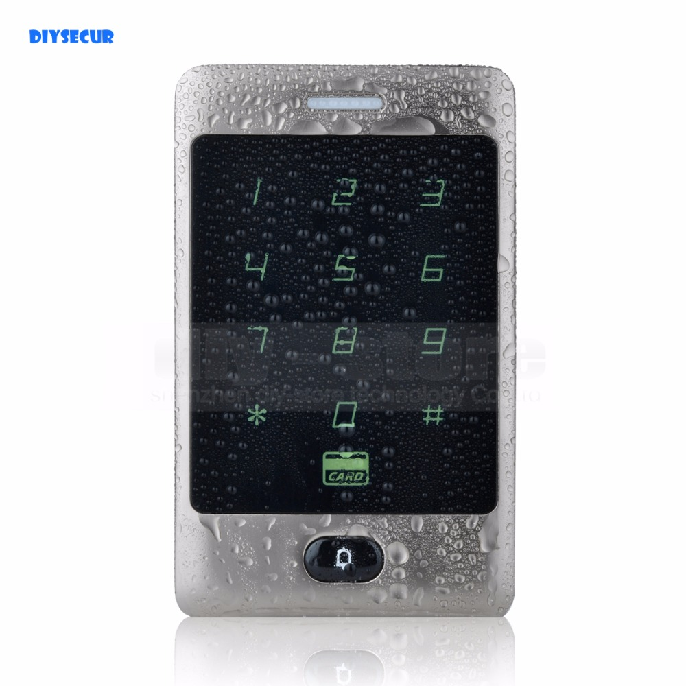 DIYSECUR Waterproof Door Bell Button RFID Card Reader Touch Panel Backlight Access Controller Password Keypad C30