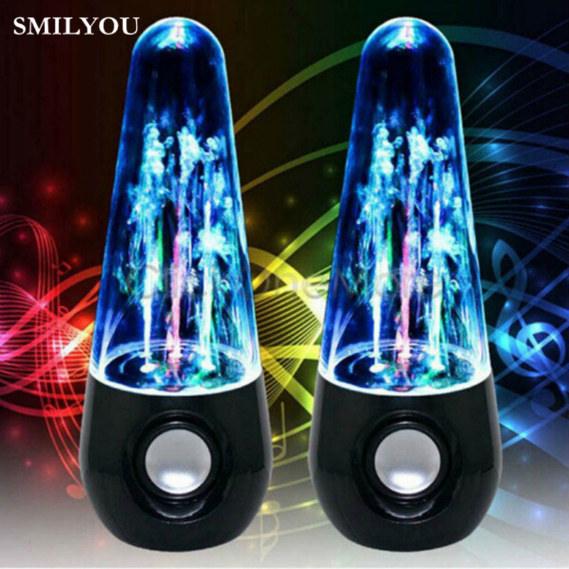SMILYOU new Hot item Dancing Water Speakers LED Speakers Water Fountain Speakers Mini Misic Amplifier Speaker Stereo