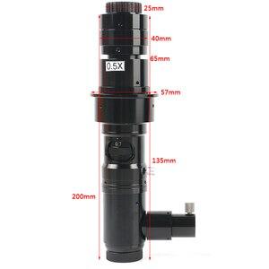 Image 4 - 180X/300X Koaksiyel zoom objektifi Farı ücretsiz Koaksiyel Işık C montaj Mikroskop Aksesuarları Için HDMI VGA USB Viedo dijital kamera