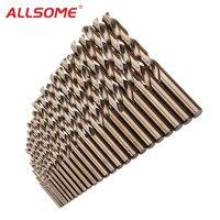 ALLSOME 1-10 мм/1-13 мм HSS M35 Кобальт твист сверло Набор для металла, дерева бурения HT2194-2195