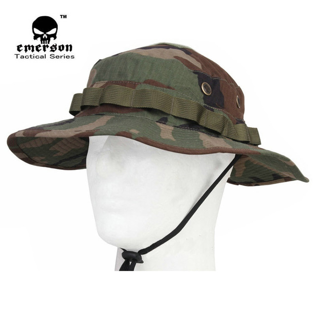 9e15f0c118186 EMERSON Special Forces tactical Camouflage Boonie hat Military Tactical  Army Hat Hunting Cap Sports Sun hat