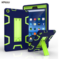 For Amazon Kindle New Fire HD 8 HD8 2016 Case With Stand Armor Shockproof Soft Silicone Hard PC Heavy Duty Rugged Defender Cover