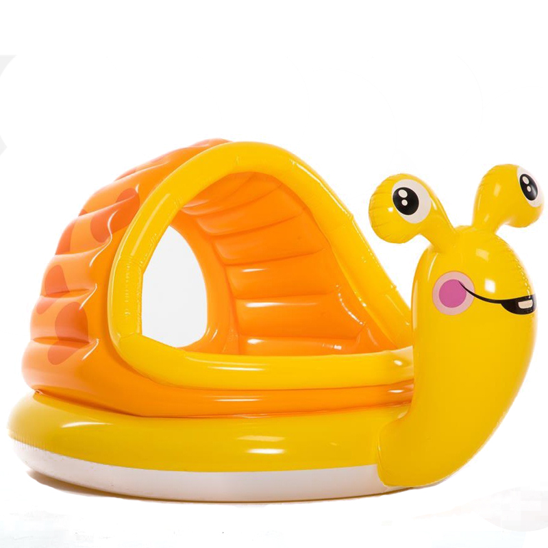 Mother & Kids Swimming Pool Yellow Snail Inflatable Paddling Pool Summer Children Play Pool Birthday Gift Non-Ironing