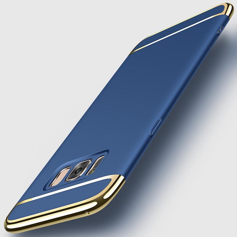 För Samsung Galaxy S8 Fodral för Samsung S8 Plus Fodral 3in1 - Reservdelar och tillbehör för mobiltelefoner