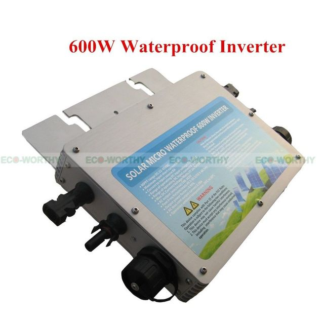 5PCS 600W 110V Waterproof Grid Tie Inverter Pure Sine Wave MPPT For Solar Panel