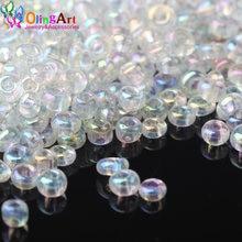 Olingart 2mm 45 g/lote contas de semente de vidro multicolorido transparente redondo espaçador grânulo diy jóias fazendo 2021new