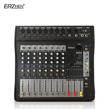 Audio Mixer Console W9000T8 Professional Mixer Audio Amplifier Sound Processor 8 Channel(China)