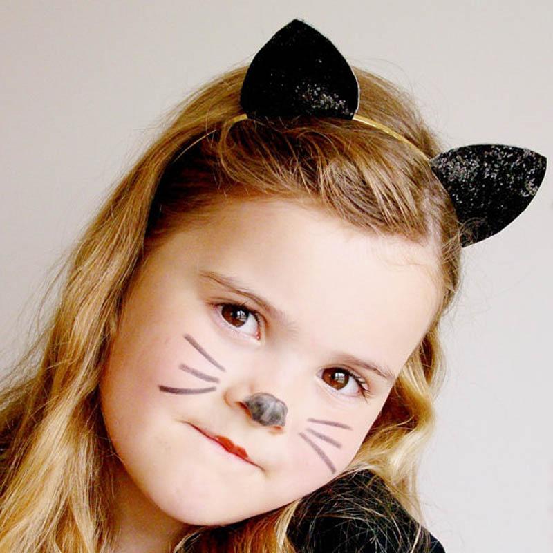 Hot Sale Girls Cute Alloy Glitter Hairbands Lovely Cat Ear Headbands Popular Women Headwrap Hair Accessories Gift