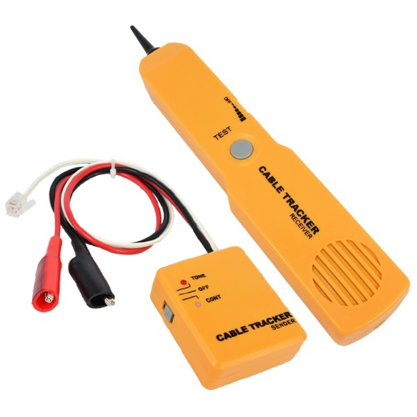kebidumeiRJ11 Network Phone Telephone Cable Tester Toner Wire Tracker Tracer Diagnose Tone Line Finder Detector Networking Tools