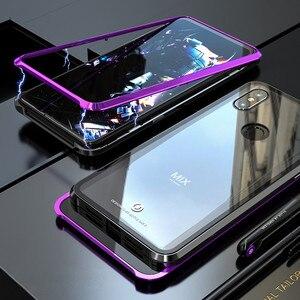 Image 1 - Магнитный чехол для Xiaomi Mi Mix 3, металлический бампер Mix3, прозрачная стеклянная задняя крышка для Xiaomi Mix 3, металлический чехол Mi Mix 3