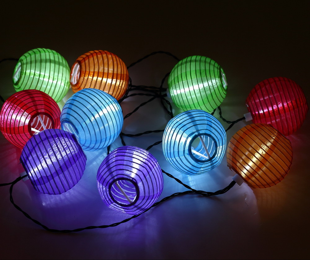 10 LED Solar Power Chinese Lantern Garden String Lights Lamp For Wedding  Party Holiday Decoration White Colorful Hanging Light In Solar Lamps From  Lights ...