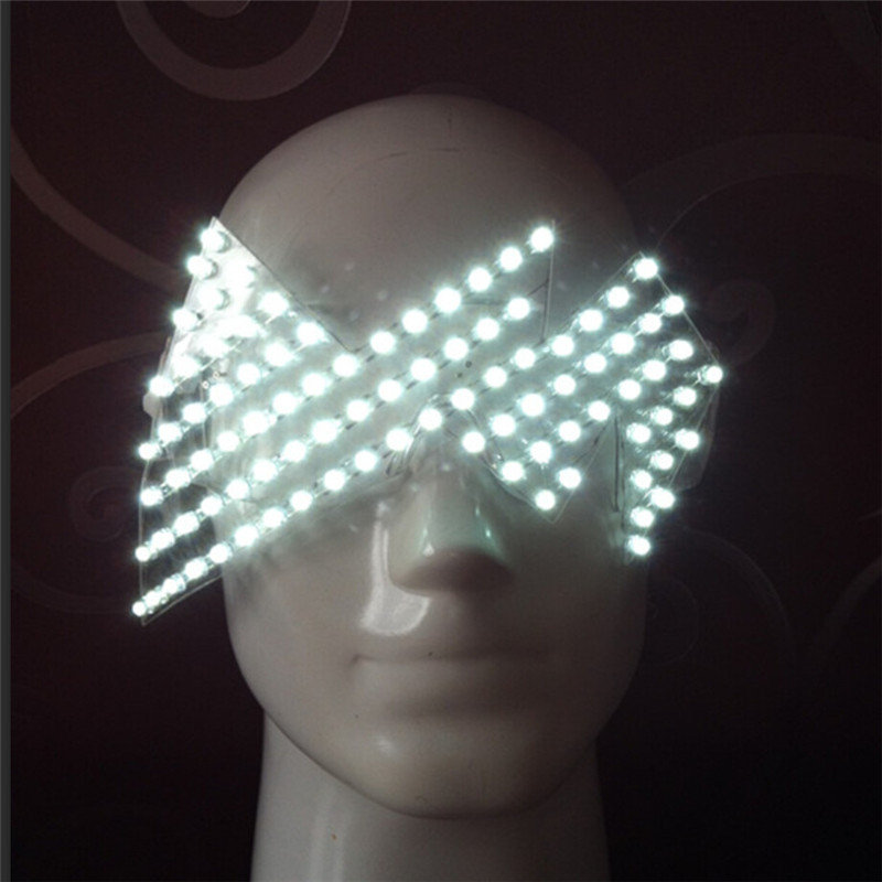 Hot Sale Led Luminous Glasses Halloween Party Mask Light Up Eyewear For DJ Club Stage Show Festive Party Supplies