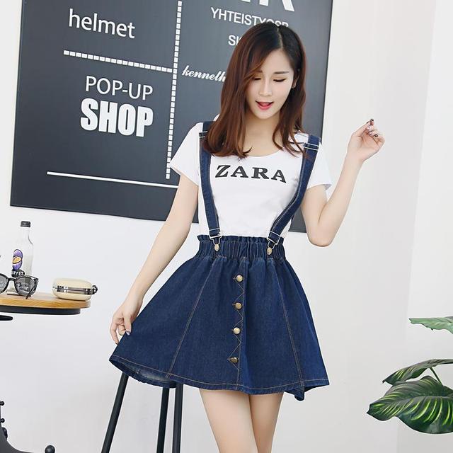 Mini Skirt Suspender Dress