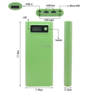 Image 5 - Double USB 8x18650 batterie bricolage support LCD affichage boîte de boîtier de banque de puissance pour iphone