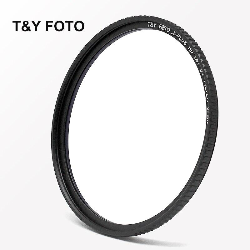 T & Y FOTO 86mm HD mince multi-enduit L41 UV filtre protecteur d'objectif pour Canon Nikon Sony Pentax Tamron Sigma 85/1. 4