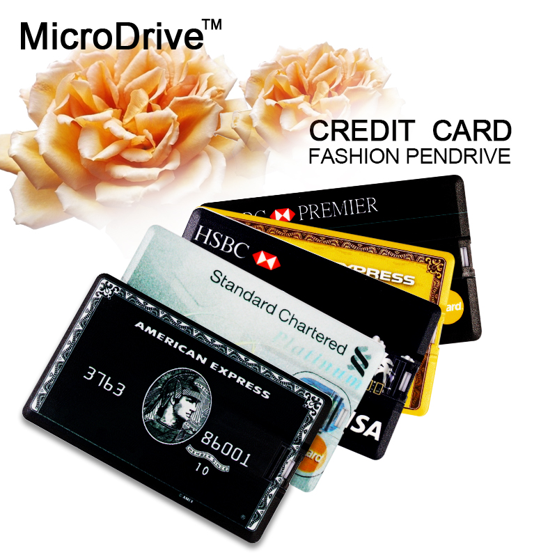 Credit card usb flash pen drive amerian express hsbc visa standard credit card usb flash pen drive amerian express hsbc visa standard chartered master card 64gb 32gb 16gb 8gb memory card stick in usb flash drives from thecheapjerseys Gallery