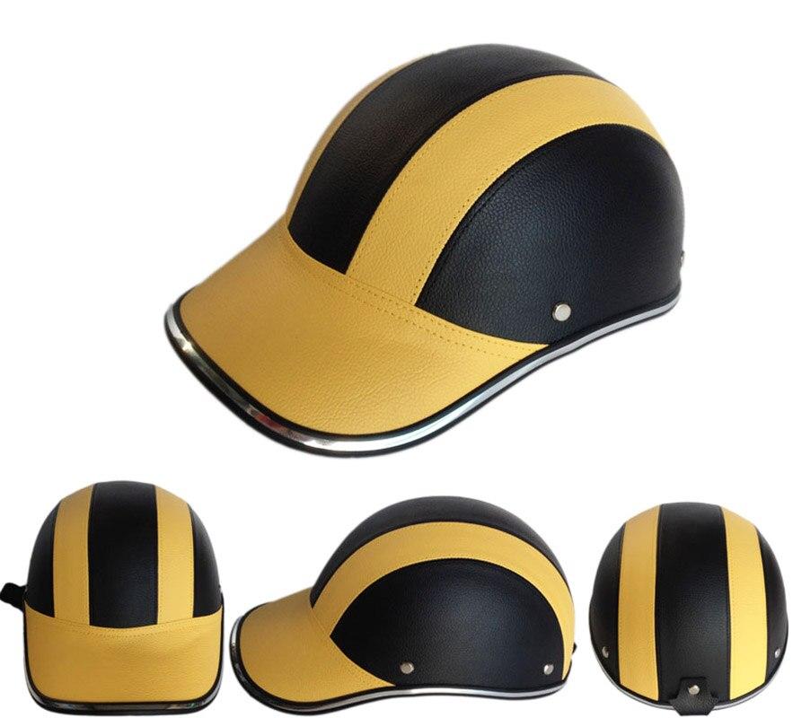 Motorrad Vintage helme Baseball Kappe Halbe gesicht Retro Casco Casque Moto Leder chopper bikes Roller Kopfbedeckungen helme