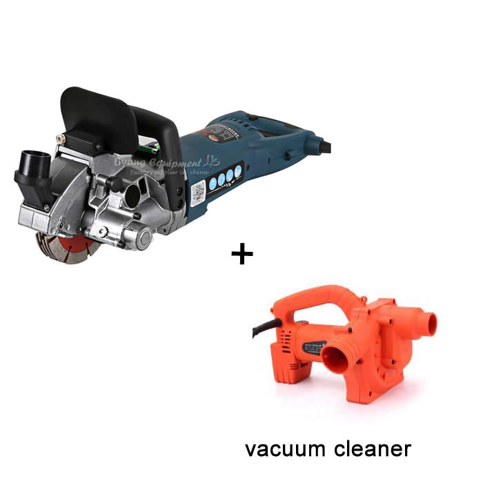 4800W Wall slotting machine Electricity Groove Cutting Machine with vacuum cleaner no tax cw6121 multifunction wall groove cutting machine wall groove machine wall chaser machine for brick