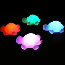 Черепаха светодиодный 7 цветов Детский ночной Светильник лампы вечерние красочные рождественские Украшения Мигающий светильник s Игрушки для малышей