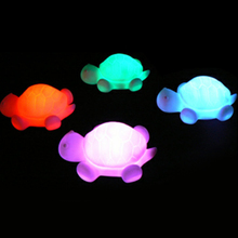 Turtle LED 7 Colours Children's Changing Night Light Lamp Party Christmas Decoration Colorful Flashing Lights Toys for Baby