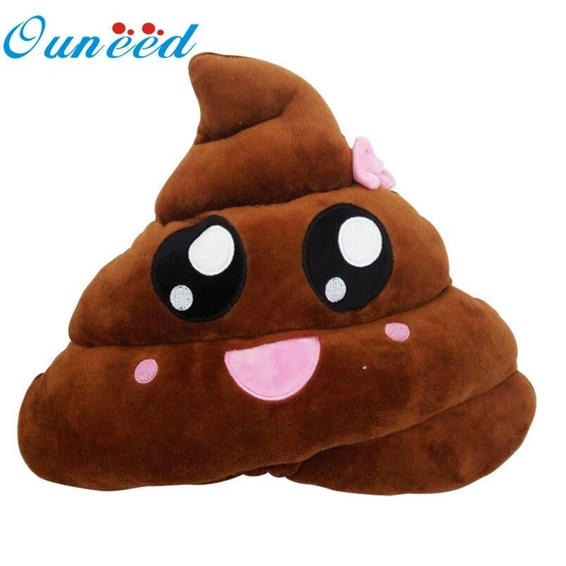Ouneed Mini Cute Pillow Cushion Poop Shape Pillow Doll Toy Throw Pillow Amusing Emotion Poo Cushion Almofadas #10 2016 Drop Home Textile