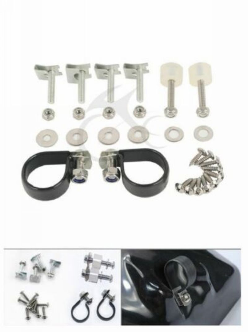Motorcycle Lower Vented Leg Fairing Mounting Hardware Clip Clamps For Harley Electra Road Street Glide FLHX Touring 83 13 12 11 in Covers Ornamental Mouldings from Automobiles Motorcycles