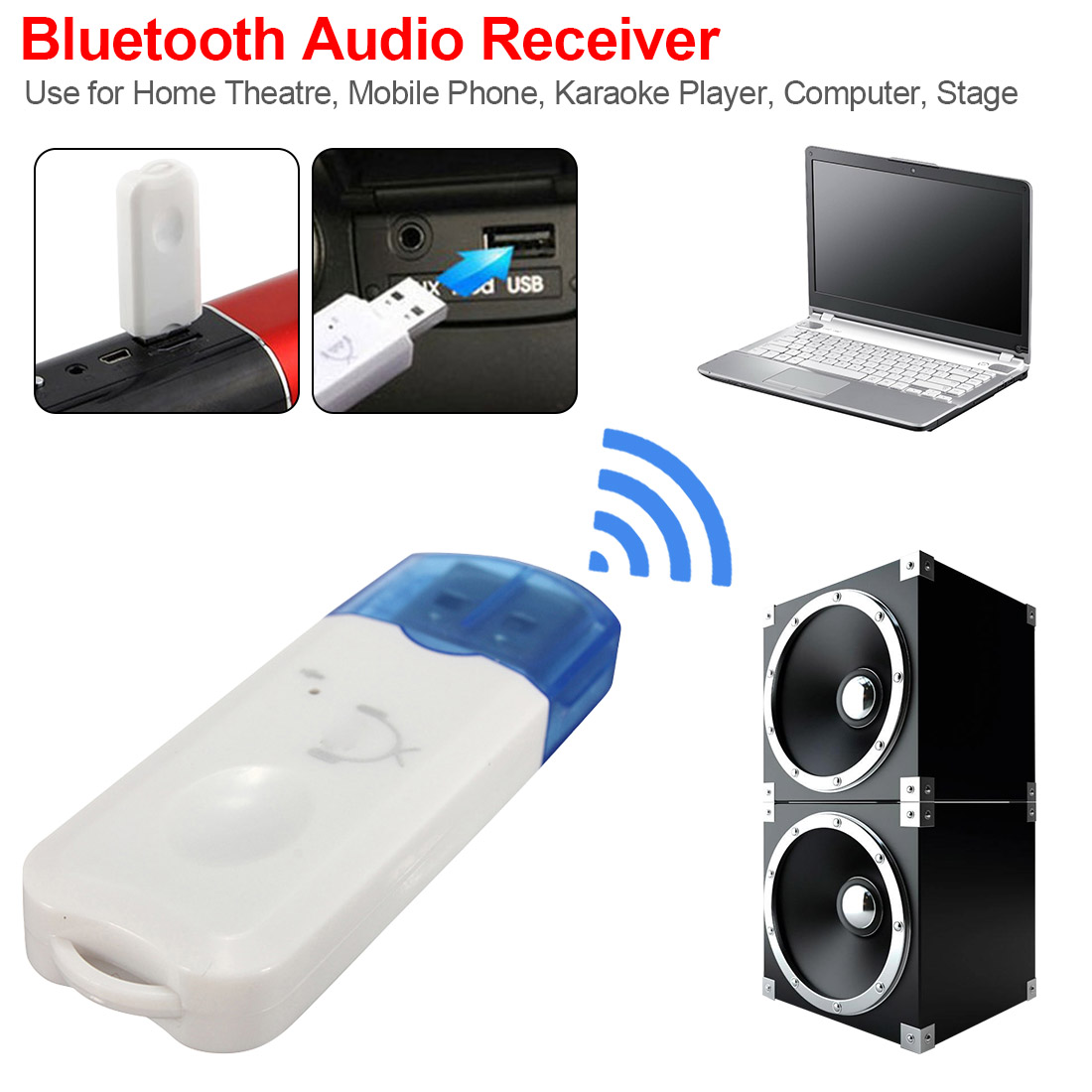 Bluetooth V2.1 Adapter USB Dongle For Computer PC Wireless Mouse Bluetooth Speaker 2.1 Music Receiver USB Bluetooth Adapter