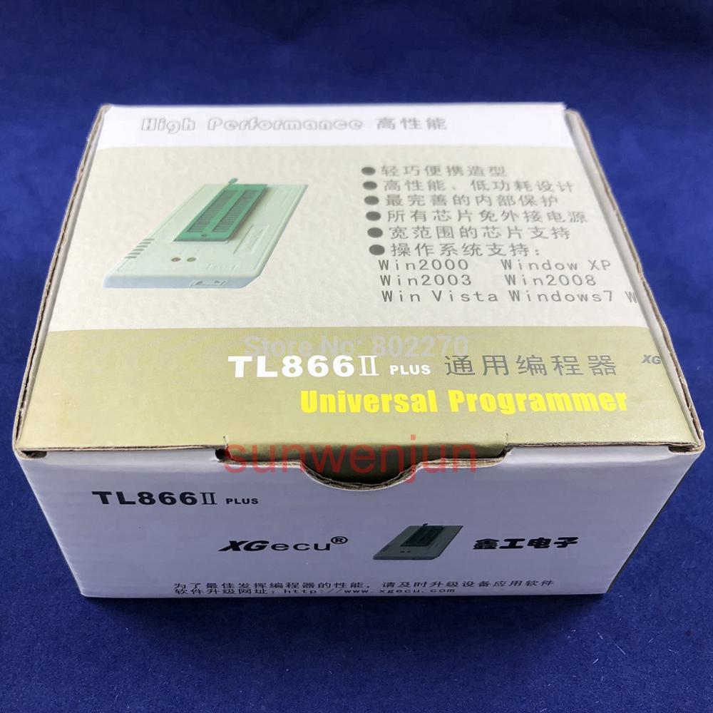 Black Edition V9.00 XGecu TL866II Plus USB Programmer  15000+IC SPI Flash NAND EEPROM MCU PIC AVR+ 25PCS ADAPTER+SOIC8 Testclip