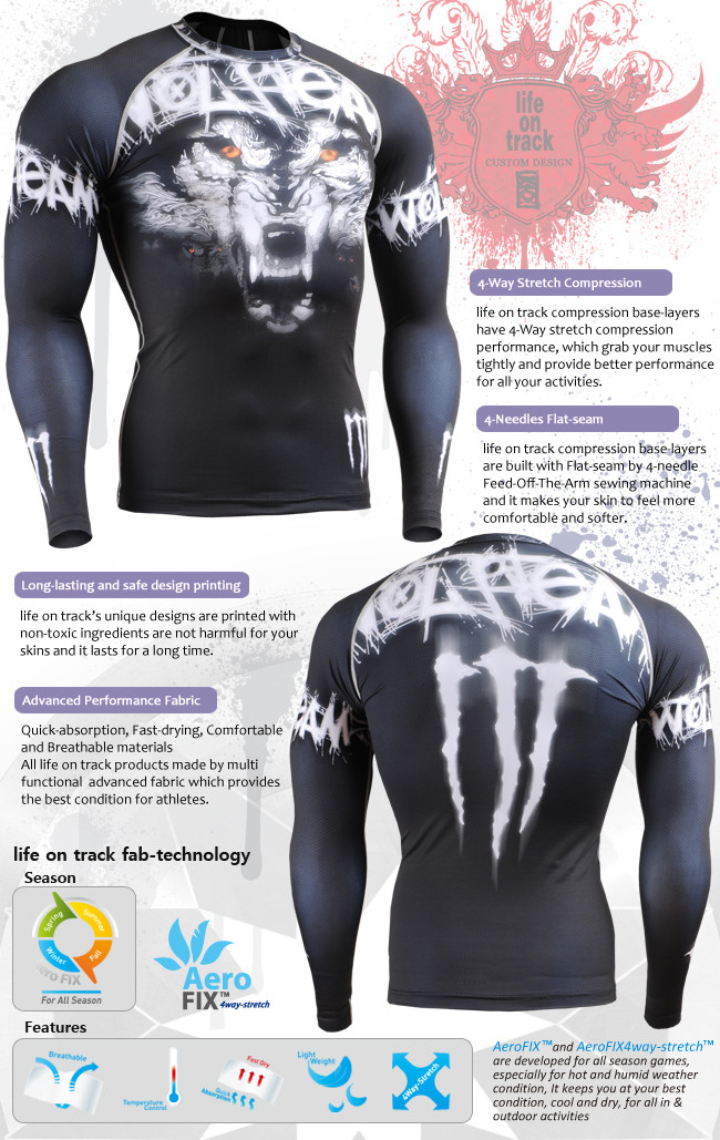 e96b73efdeb7 Muscle Man Rash Skull Guard Technical Compression Shirt Complete ...