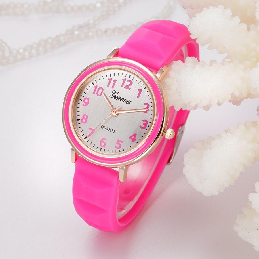 Modes sievietes silikona kvarca pulksteņa Candy krāsu ikdienas sporta skatīties dāmas meitenes rokas pulksteņi