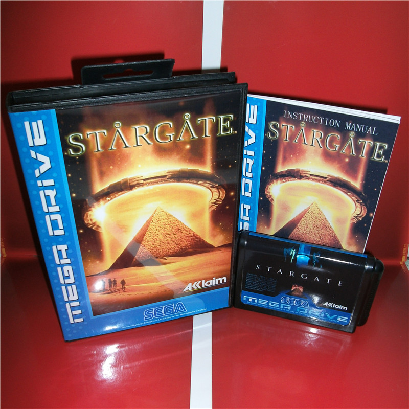 Stargate EU Cover with box and manual for Sega MegaDrive Genesis Video Game Console 16 bit MD card