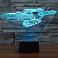 Multi-colored Death Star Table Lamp 3D Warship Bulbing Light Millennium Falcon LED Night Light Atmosphere Lamp Novelty Lighting