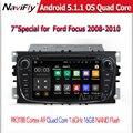 O envio gratuito de 7 polegadas Android 5.11 Jogador Do Carro DVD Para FORD foco Mondeo S-MAX Com Wifi GPS Navi Radio free Mapa swc