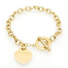 Hot Luxury Famous Brand Love Bracelet Fine Jewelry Heart Tif Bracelet For Women Gold Charm Bracelet pulseiras Fashion Jewelry