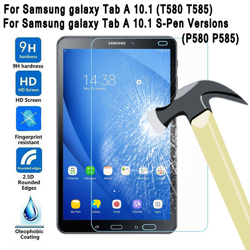 Tempered Glass for Samsung Galaxy Tab A 10.1 2016 Screen Protector for Galaxy Tab A 10.1 SM-T580 SM-T585 or SM-P580 SM-P585 mediagadget tempered glass для samsung galaxy a3