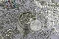 HB216-122 tamanho Mix Cores Champagne Gold forma de Hexágono Hex Glitter para Nail art e DIY supplies1pack = 50g