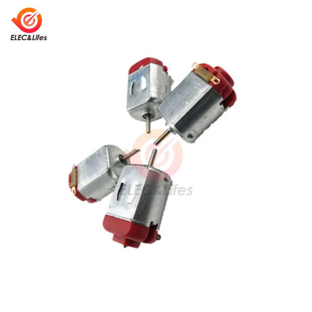 3 V-6 V 0.35-0.4A 8000RPM mini silnik prądu stałego Micro DC silnik dla majsterkowiczów zabawki hobby inteligentny silnik samochodu 130
