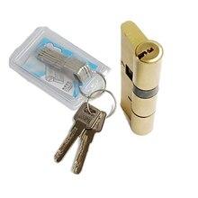 1 комплект дверной цилиндр предвзятый замок 70 80 90 100 мм 8 ключей Противоугонный входной латунный дверной замок Домашняя безопасность с ключами дверная фурнитура