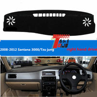 TAIJS Right Hand Drive Car Dashboard Cover For Volkswagen Santana 3000 Tzu Jung 2008 2012 Lucifuge