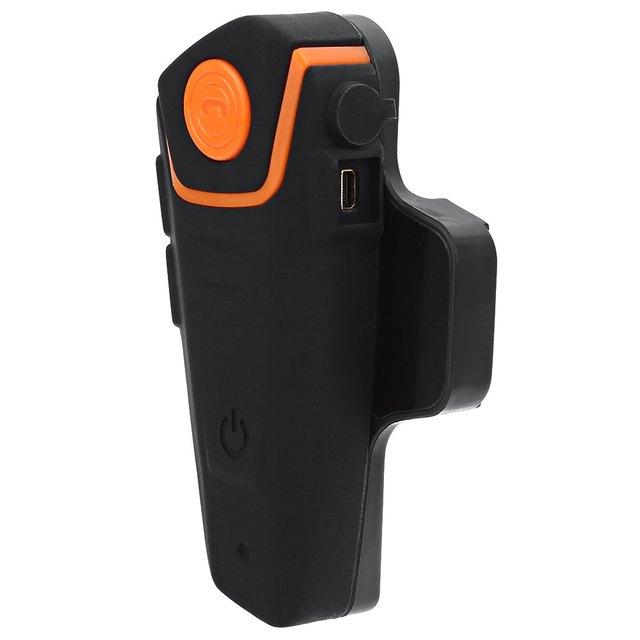 EU Plug Motorcycle Helmet Intercom Kit Waterproof Wireless GPS with Bluetooth Hands Free Large Button Design Support FM Radio