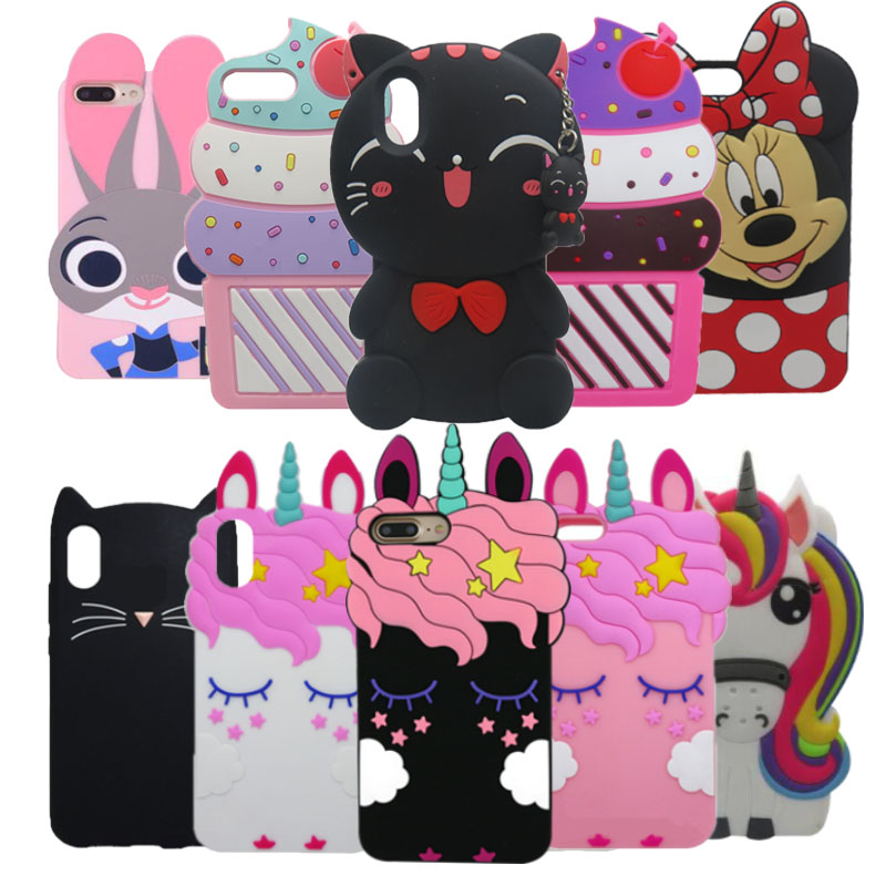 Phone <font><b>Case</b></font> For <font><b>iPhone</b></font> <font><b>8</b></font> Plus 3D Cartoon Minnie <font><b>Cat</b></font> Rabbit Silicone <font><b>Case</b></font> For <font><b>iPhone</b></font> 5 5S SE 6 6S 7 <font><b>8</b></font> Plus X XR XS Max Cover Capa image